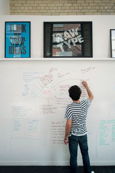 raw - studio space #design #studio #whiteboard