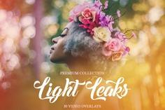 Light Leaks Video Overlays