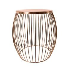 Miami Wire Stool Copper 44.5cm x 44.5cm x 47cm