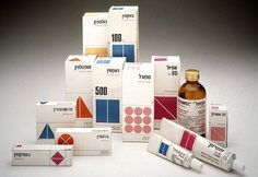 Vintage pharmaceutical packaging #reisinger #packaging #medicine #dan #hebrew #modernism #pharmaceutical