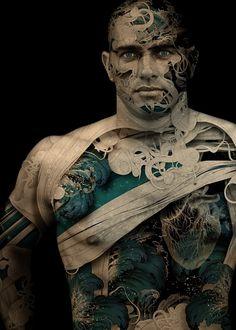 Alberto Seveso, official Web Page | Alberto Seveso #illustration #photography #man #mixed media