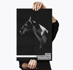Dubai Film Festival Rebrand Pitch on Behance #horse #polygon #white #graphic #black #digital