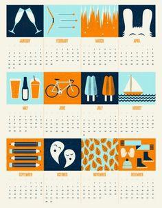 Alex Westgate | Designer & Illustrator | Blog #design #calendar #westgate #alex #illustration