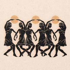 'Dancing Women' Print