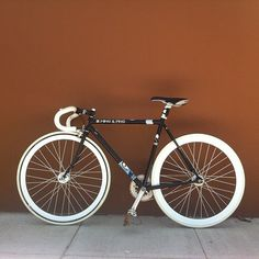 Photo by michaelmartinho • Instagram #white #bicycle #fixed #hipster #black #gear #brown #leather #bike #and