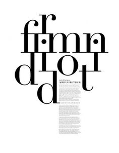 Didot | Shiro to Kuro #didot #editorial #typography