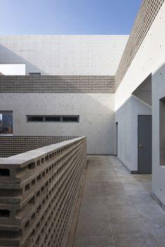 Korean Community Center minimal white architecture house building modern architect rextangle square korea