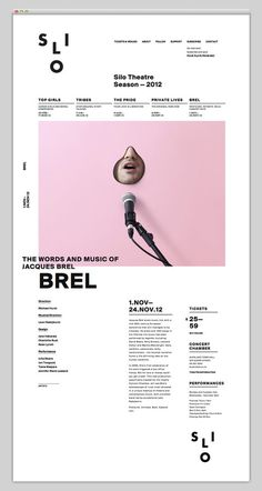 Silo Theatre #grid #layout #website #web #web design #grid based