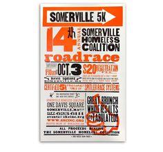 Somerville 5K - Jennifer James #typography