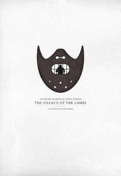 Silence of the Lambs Poster - CommonerInc #serif #minimalist #movie #poster