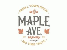 Dribbble - Maple Ave Brewery by Nick Slater