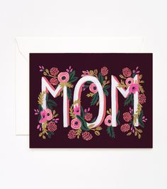 Rifle Paper Co: Rosy Blooms Mother's Day Card #card #print #floral #paint #illustration #stationery #flower #typography
