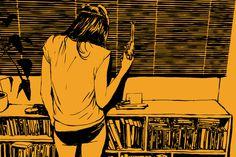 tumblr_m6sqm2rDk81qgaxjko1_1280.jpg 849×567 pixels #comic #yellow #girl