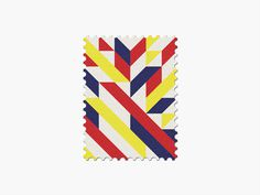 Colombia #stamp #graphic #maan #geometric #illustration #minimal #2014 #worldcup #brazil