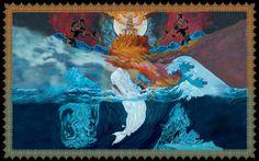 "Mastodon's ""Leviathan"" album artwork illustrated by Paul Romano #Music #Mastodon #PaulRomano #Illustration"