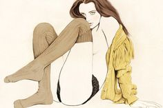 Kelly Thompson #illustration #naked #girl #almost