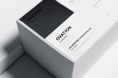 'Ovation is a clinic specialized in ocular health with two aspects: medical and cosmetic. Futura designed an identity that reflects the key values of the brand: high quality and professionalism.  For the logo, Futura used two typographical fonts. Read more about this project and other beautiful designs at mindsparklemag.com