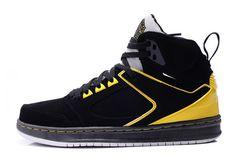 Nike Air Jordan Sixty Club Black Speed Yellow Metallic Silver Mens Shoes #shoes