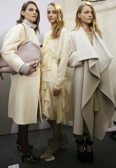 Chloé f/w 2014 backstage #fashion #backstage #chlo