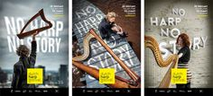 Dutch Harp Festival 2014 (design: www.theadagency.nl) #agency #festival #design #graphic #the #poster #ad