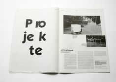 johannafloeter #layout #white #black #clean #newspaper #magazin