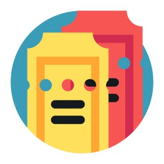 See more icon inspiration related to ticket, cinema, access, movie tickets, entertainment, movies, theatre, stars, film, movie and interface on Flaticon.