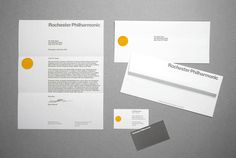 Rochester Philharmonic - Identity project image #business #card #print #envelope #stationery #letterhead