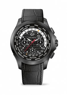 The Traveller WW.TC by Girard-Perregaux #black #men #watches #chronograph