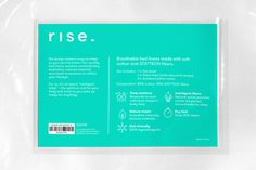 Rise. packaging in GT Walsheim Font