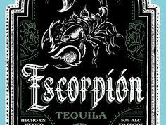 Escorpión Tequila - Label #english