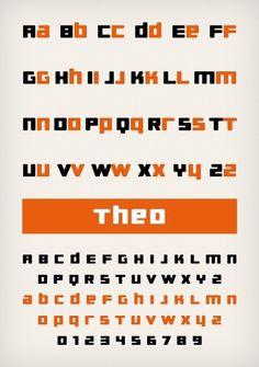 Novo Typo - Theo - Type specimen #novo #design #typeface #typo #typography