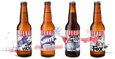New Logo and Packaging for Feral Brewing Company by Block #packaging #beer #feral #bottles