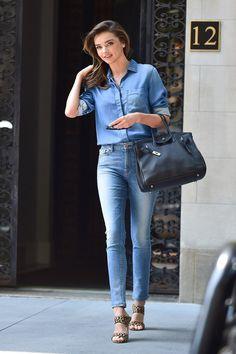 Miranda Kerr - piękna w każdej sytuacji? (GALERIA) #miranda #kerr #shirt #fashion #blue