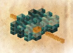 BE UNIQUE Art Print by adamned.art | Society6 #geogrpaphic #pattern #cubes #design #retro #unique #be #art #adamned #typo