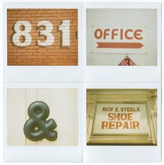 All sizes | Vernacular Typography Polaroids | Flickr - Photo Sharing! #type #lettering #signs