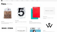 Face. Works. - Web design inspiration from siteInspire #white #design #clean #website #grid #web