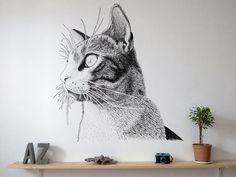 Imagen #shelf #cat #painting