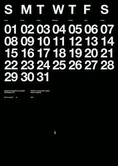 #calendar #helvetica #typography #type #swiss