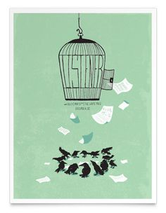 Shed Labs #illustration #gig poster #birds