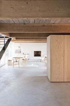 North Vancouver House by Scott & Scott Architects. #beam #concretefloor #plywood