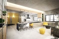 interiors with industrial tones