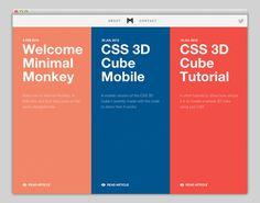 Minimal Monkey #website #layout #design #web