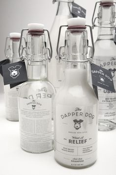 The Dapper Dog #bottle #packaging #shampoo #glass #dog
