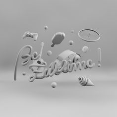 Be Zublime! on Behance #type #3d