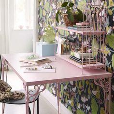 workspace, pink, furniture