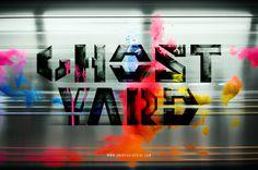 """Ghost Yard"" #handmade #typography #graffitihistory #graffiti #colors #subway"