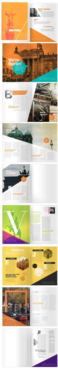 TRAVEL Magazine #layout #design #berlin #color_blocks #orange