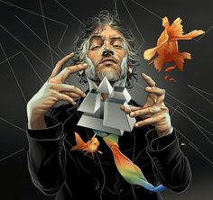 The Flaming Lips, Playboy Magazine : Martin Ansin, Illustrator | Illustration Portfolio #playboy #montevideo #lips #the #illustration #flaming