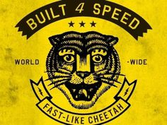 Dribbble - Built For Speed by Curtis Jinkins #jinkins #speed #curtis #logo #tiger