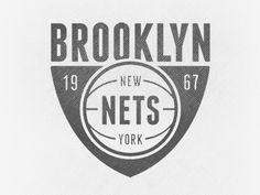 Dribbble - Brooklyn Nets by John Duggan #white #nets #black #and #logo #brookyln #nba #typography
